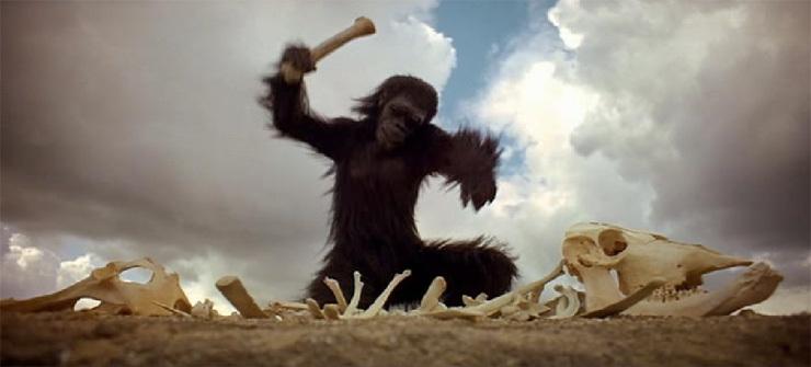 Figura 1: cena do filme 2001, Uma Odisseia no Espaço, Stanley Kubrick e Arthur C Clarke, 1968