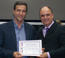 Cooperado recebe homenagem da Câmara Municipal de Vila Velha