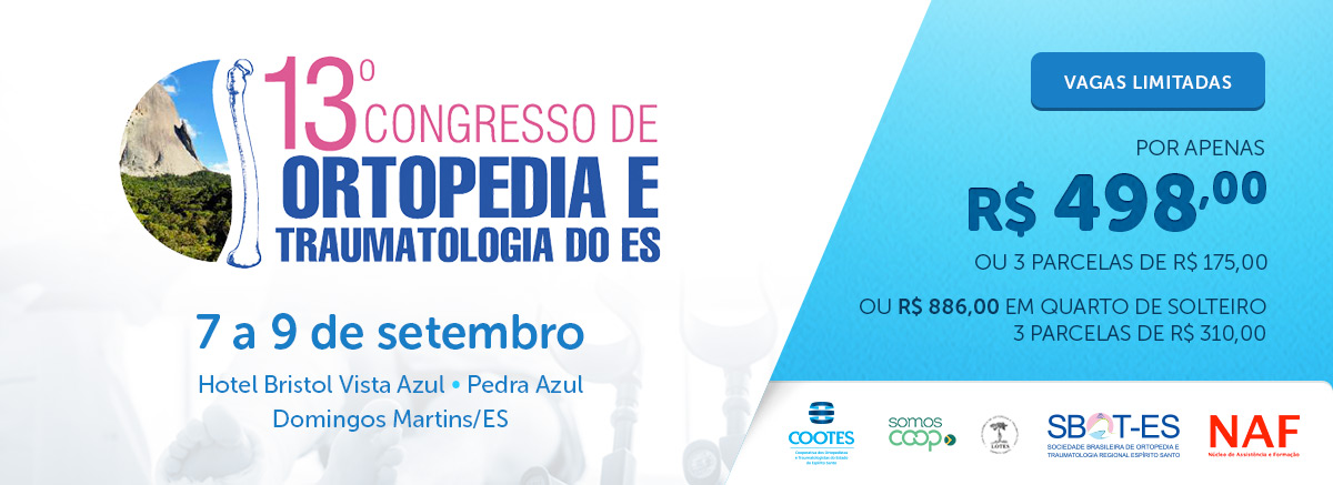 13o Congresso de Ortopedia e Traumatologia do ES