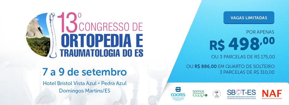 13o Congresso de Ortopedia e Traumatologia do ES