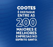 COOTES entre as 200 maiores e melhores empresas no Espírito Santo